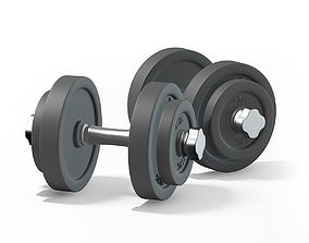 Dumbbells 3D model animated