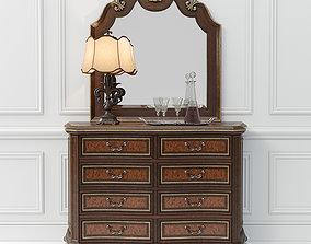 3D Hooker Furniture Grand Palais Dresser and Mirror