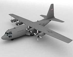 Lockheed C130 Hercules Military Aircraft 3D asset