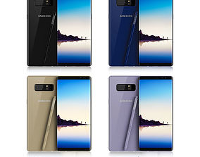 Samsung Galaxy Note 8 All Colors 3D model samsung