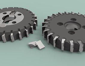 Face milling cutter d250 surface 3D model