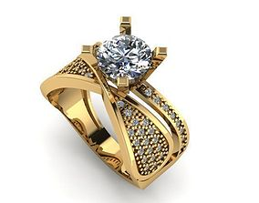 wedding ring 3D print model pandora