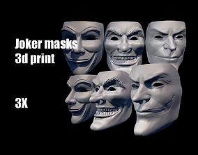 Joker masks helmet 3D