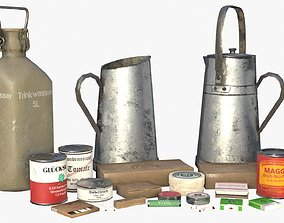 3D German WWII rations and equipments Collection