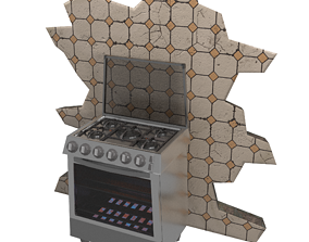 3D model Stylized Kitchen Stove