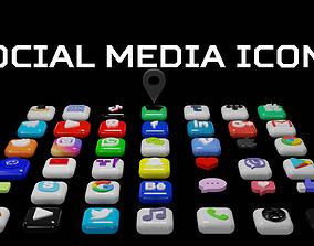3D SOCIAL MEDIA ICONS instagram