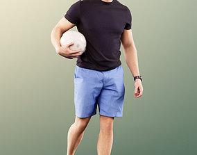 3D 11592 Kilian - Sporty Man Walking With Soccer Ball