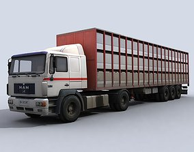 3D model Cattle Truck