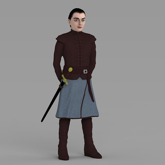 Arya Stark for full color 3D printing