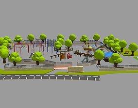 3D asset Lowpoly park