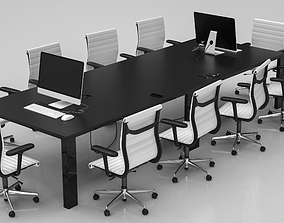 3D model Conference Meeting Room Furniture 10