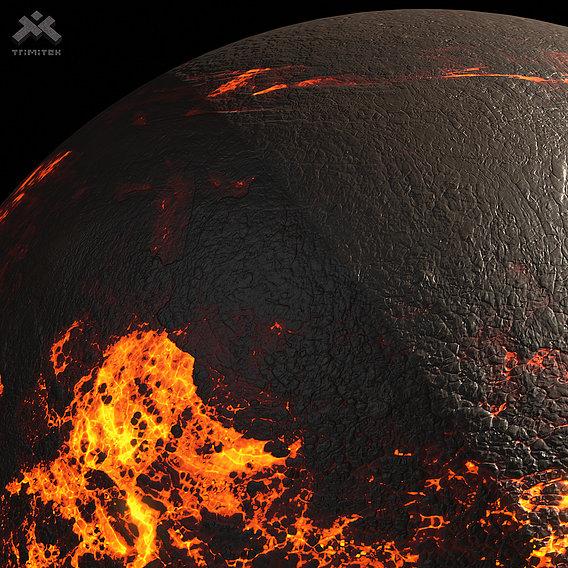 Lava Planet 04 - Surface details