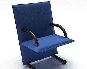 3D model Modern Blue Black Chair