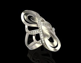 Diamond ring design 3D printable model brilliant