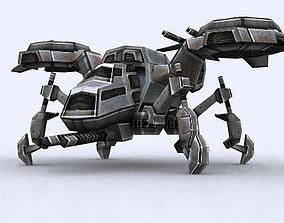 VR / AR ready 3DRT - Sci-Fi Forces - Gunship 2