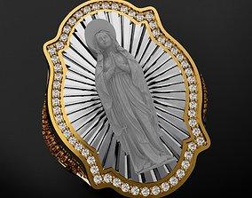 3D print model Virgin Spanish Prayer Ring