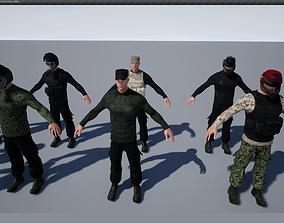 3D model animated PostApoMan unreal engine asset