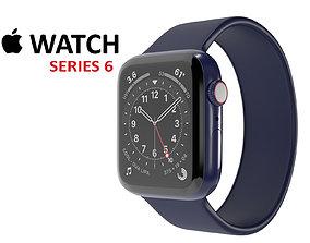Apple Watch Series 6 Blue Aluminum 3D