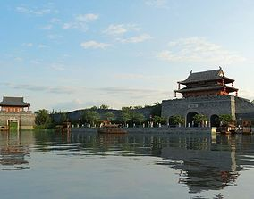The entrance of ancient city gate in China 05 3D