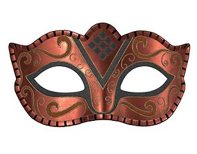 3D model Carnival mask decorated with design