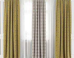 Curtain Set 155C 3D model