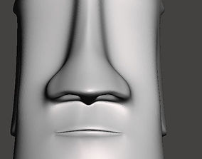 Easter Island head - 3d model for CNC