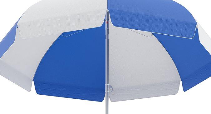 guarda chuva personalizado azul e branco