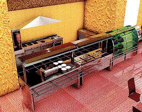 Cafeteria restaurant 3D