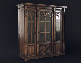 Gothic Bookcase 3D model