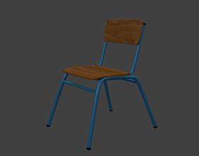 School Chair 3D