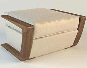 bark furniture armchair pouf 3D asset