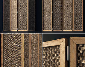 Wood screen decor n1 3D model partition
