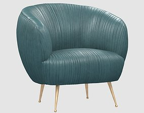 3D asset SOUFFLE CHAIR Ruched by Kelly Wearstler max fbx