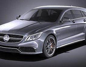 3D Mercedes-Benz CLS63 AMG Shooting Brake 2015 VRAY