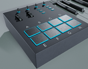 3D model midi controller Tah210 K25