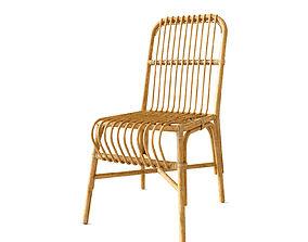 Valerie vintage rattan chair 3D
