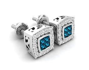 Diamond earrings for woman diamond 3D print model