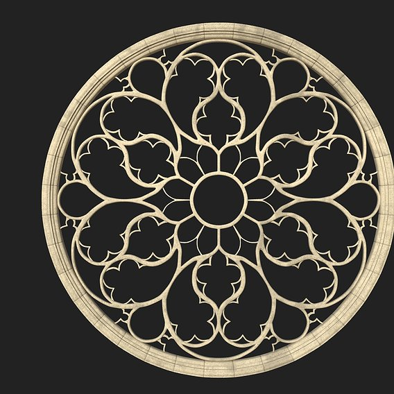Gothic Rose Window 3D model