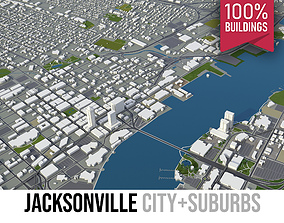 3D asset Jacksonville - City and Suburbs