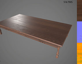 Low Poly Wooden Table 3D model