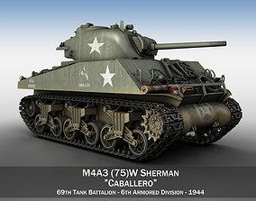 3D model M4A3 75mm - Sherman - Caballero
