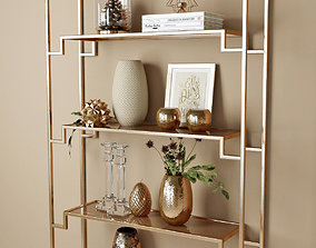 vase decor shelf set 3D