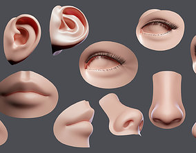 facial element 3D model realtime