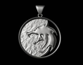 3D print model Witcher Wolf Necklace Medallion from the 1