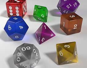 3D model Role Playing Glass Dice Collection