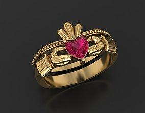 3D printable model Claddagh ring hand