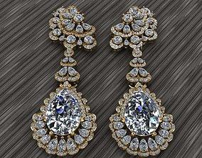 brilliant 3D print model Jewelry earrings