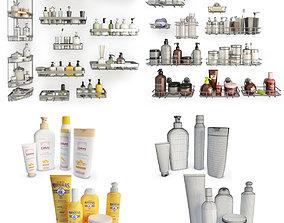 Bathoom Products and Metallic Shelves 3D