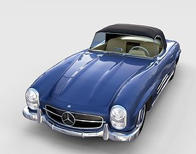 Mercedes 300SL Roaster Top rev 3D