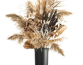 3D Bouquet of dried flowers in a vase 176